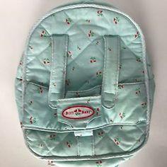 American Girl Bitty Baby Backpack Starter Velour Satin Pink Blanket EUC RETIRED