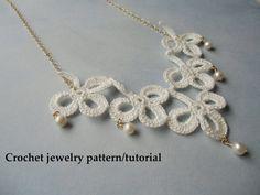 Shamrock crochet jewelry patterns Instant download PDF.