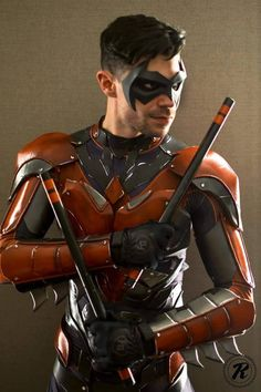 This guy is the best coplayer I've ever seen, he should be hired for movies or something. Nightwing cosplay