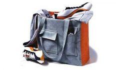 Grigio e Arancione Pocket Bag - Tutorial gratuito per cucire