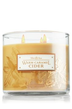 O-M-G, my new fave scent for fall!!! (better than Cider Lane!) Warm Caramel Cider 3-Wick Candle - Slatkin & Co. - Bath & Body Works