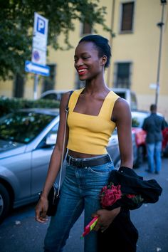 Street style at Milan Fashion Week Women's Spring 2018