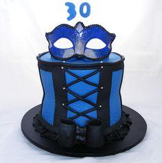 Masquerade Birthday Cake by My Cake Place http://www.mycakeplace.com.au/ https://www.facebook.com/MyCakePlace