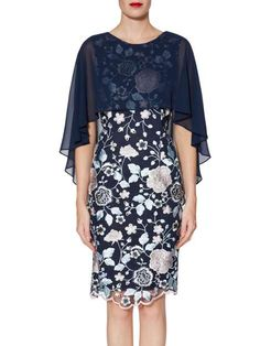 62e53859c87 Jacquelin Dress And Chiffon Cape. Mesh DressHouse Of FraserOccasion WearFloral  EmbroiderySpring Summer ...
