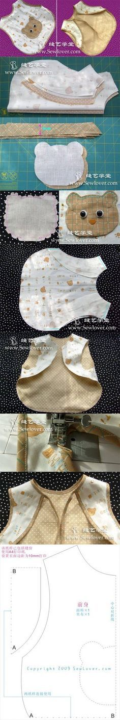 DIY Sew Children Bib