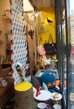 La jolie boutique Les Cocottes en Papier, à Paris...à découvrir !