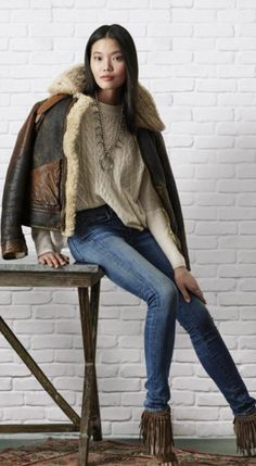 Inspired by classic aviator styles, the distressed Shearling Bomber Jacket  from Polo Ralph Lauren is 8fc3c2327d