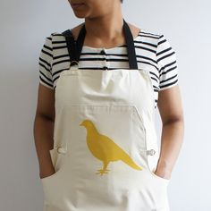 This apron is very practical.  I could use it to change the oil in my car or cook something.  Plus, the people of Portlandia would approve heartily.