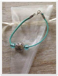 Bracelet les petits plaisirs de noël turquoise : Bracelet par lesbijouxdelareine