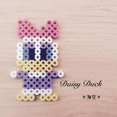 Daisy Duck Perler Pearls by - Daisy Duck Perler Pearls by . Daisy Duck Perler Pearls by – Daisy Duck Perler Pearls by – # Pearls Easy Perler Bead Patterns, Melty Bead Patterns, Perler Bead Templates, Diy Perler Beads, Beading Patterns, Loom Patterns, Loom Beading, Perler Bead Disney, Motifs Perler