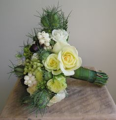 One of my favorite bouquets of all time #BarneysNYbridal