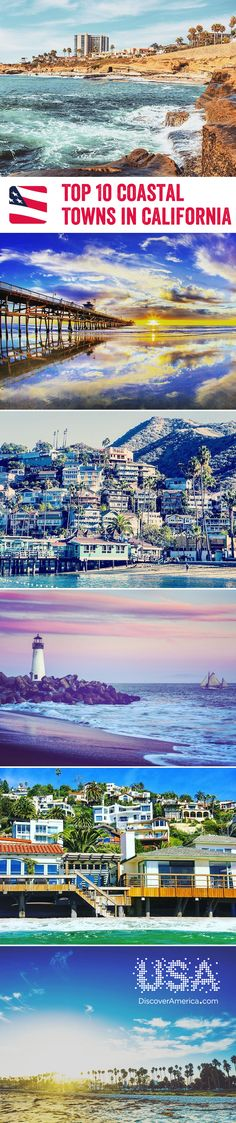 Beautiful beaches, succulent seafood, quaint streets, and even amusement parks, California's coastal towns are certainly worth exploring