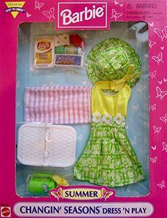 1998 Barbie - Summer 🦋 (Changin' Seasons Dress 'N Play) # ? Barbie Doll Set, Barbie Sets, Barbie Doll House, Barbie I, Barbie And Ken, Vintage Barbie Clothes, Doll Clothes, Barbie Summer, Barbie Doll Accessories