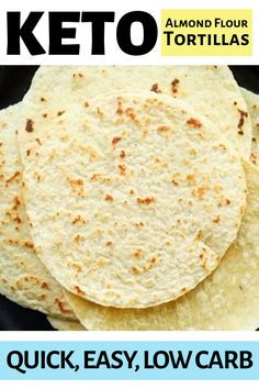 KETO TORTILLA RECIPE 🌮 These keto tortillas are made with almond flour, and just a few other low carb ingredients! My family can't get enough of them, and they make perfect tacos 🌮 Comida Diy, Comida Keto, Low Carb Wraps, Easy Tortilla Recipe, Oat Flour Tortilla Recipe, Almond Flour Pasta Recipe, Almond Flour Tortilla Recipe, Almond Flour Waffles, Corn Tortilla Recipes