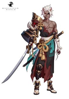 Game Character, Character Concept, Concept Art, Fantasy Character Design, Character Design Inspiration, Dnd Characters, Fantasy Characters, Anime Manga, Anime Art