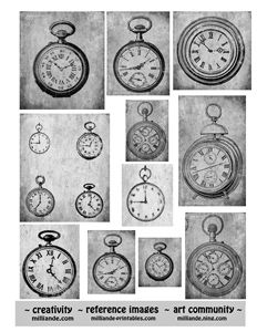 vintage clocks, steampunk printables free, grunge, craft, vintage watches, collag sheet, pockets, collages, pocket watches