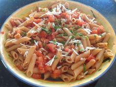 fresh n healthy eats: Penne With No Cook Pasta Sauce