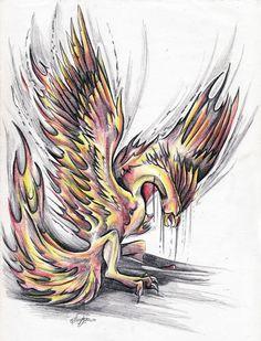 phoenix tattoo by Bephza