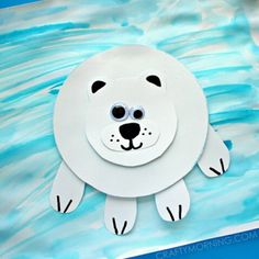 Make this polar bear on ice craft this winter! Clickable link in profile^