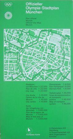 Munich Olympics 1972 Otl Aicher Leaflet Design, Map Design, Signage Design, International Typographic Style, Otl Aicher, Olympia, Wayfinding Signage, Information Graphics, Visual Communication