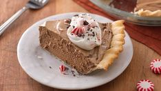 This updated version of the classic French Silk Pie is sure to be a hit with coffee and peppermint lovers. Using pasteurized eggs eliminates food safety concerns and allows everyone to enjoy this classic dessert.