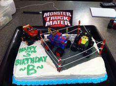 My sons Monster truck mater birthday cake