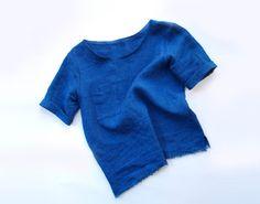 Indigo Dyed Linen Box Top by kertis on Etsy