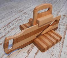 Hand Made Salami Cured Meat Slicer 19th Century Design Oak and Beech Wood #salamislicer #slicer