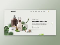 Markhor Beauty Shop designed by Asif. Connect with them on Dribbble; the global community for designers and creative professionals. Shop Banner Design, Banner Design Inspiration, Website Design Inspiration, Website Design Layout, Layout Design, Website Designs, Web Layout, Cosmetic Design, Cosmetic Web