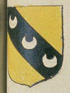 Catherine PINEAU, veuve de BERGEREAU, bourgeois d'Angers. Porte : d'or, à une bande de sable chargée de trois croissans d'argent   N° 251