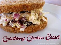 Cranberry Chicken Salad {Clean-Eating} #whole30 #whole30recipes #whole30lunch