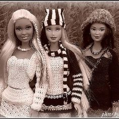 List of free barbie crochet  patterns. Make barbie a whole new outfit or funky accessory. Find patterns for barbie evening dress, crochet barbie...