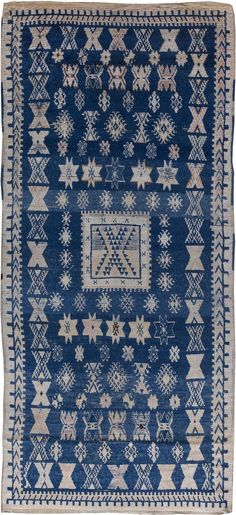 Vintage Rugs: Vintage Rug Moroccan interior decor, blue rug in living room