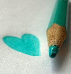 Aqua pencil and heart doodle Shades Of Turquoise, Aqua Blue, Shades Of Blue, Pink, Peacock Blue, Turquoise Color, Teal Colors, Palette Verte, Happy Colors
