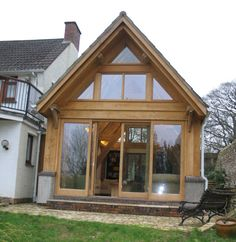 Simple timber framed with gable roof rear extension. inside the vaulted ceilings give the impression the extension is a lot bigger than it actually is.
