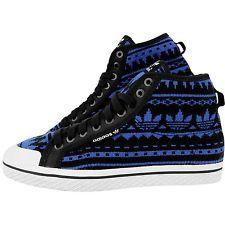 Adidas de punto tela Miel azul negras para mujeres zapatillas media bota G95727