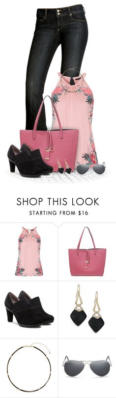 """""""Dark Rose"""" by mwaldhaus ❤ liked on Polyvore featuring Paige Denim, Anna Field, Geox, Alexis Bittar, Wallis and Ray-Ban"""