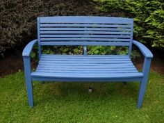 My blue iris garden bench ...