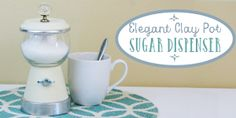 This DIY clay pot sugar dispenser is a more elegant version of our Lovely Little DIY Sugar Bowl that we Continue Reading Crafts With Glass Jars, Mason Jar Crafts, Bottle Crafts, Sugar Dispenser, Fairy Doors, Diy Bed, Diy Clay, Clay Pots, Creative Crafts