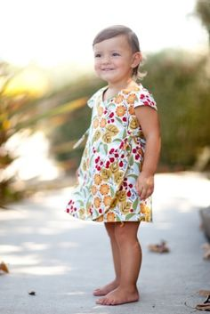 Iris Reversible Wrap Dress, girl's PDF sewing pattern, easy pattern, child sewing pattern, sundress, toddler dress, infant dress, beginner sewing pattern