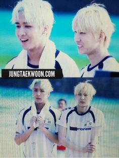 VIXX Dream Team - Leo (Jung Taek Woon) and Ravi (Kim Won Shik) They are so cute!! ^-^