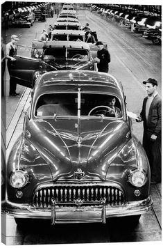 icanvasart 1950S Head-On View Buick Automobile Assembly Line Detroit Mi By Vintage Images