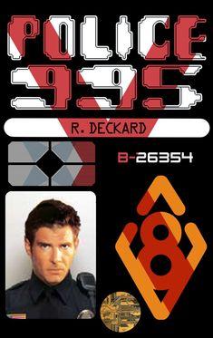 Blade Runner - Deckard ID card Front Film Blade Runner, Blade Runner 2049, Science Fiction, Man In Black, Sean Young, Denis Villeneuve, Sci Fi Films, Ridley Scott, Roy Batty