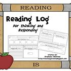 a reading log but no signature required.  instead students respond with various comprehension strategies.