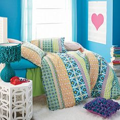 Company Store. Twin Duvet Cover $49; Standard Sham $18; Bohemian Stripe Duvet Cover / Sham; Machine Wash
