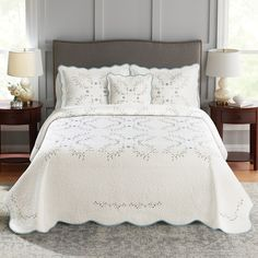 Croft & Barrow® Embroidered Bedspread or Sham French Provincial Bedroom, Queen Bedroom, At Home Workout Plan, Linen Bedding, Bed Linen, Bed Spreads, King Size, Comforters, Blanket