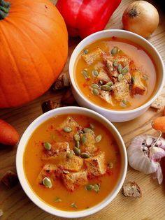 Lekcje w kuchni: Zupa dyniowo-paprykowa / Roasted Pepper and Pumpkin Soup