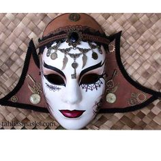 Grand Mistress Ophelia Bates-Harvard: Sorceress - STEAMPUNK WALL MASK WITH REMOVABLE STEAMPUNK CHOKER NECKLACE.