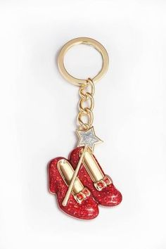 Wizard of Oz Ruby Slippers Keychain