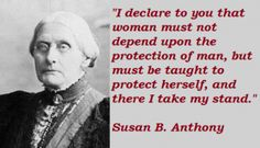 Susan anthony, Famous quotes and Preserve on Pinterest